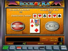 Риск-игра на слоте Book of Ra