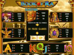 Бесплатная игруха Book of Ra