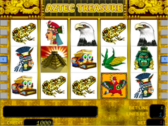 окно автомата aztec treasure