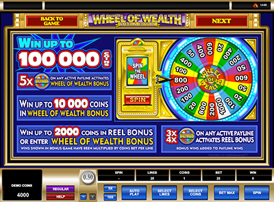 Wheel of Wealth микрогейминг слот